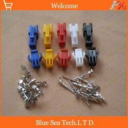 Czarny/czerwony/niebieski/żółty/biały niebieski 2 Pin/way złącze 2.54mm SM 2P JST2.54 elektryczny łącznik do E rower/samochód/obwodów elektronicznych w Złącza od Lampy i oświetlenie na