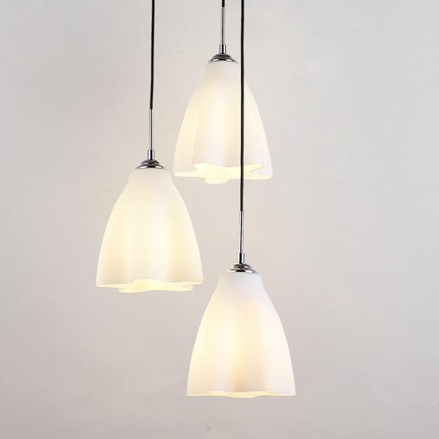 Moderne Glazen Wolken Eetkamer Hanglampen Wit Glas Bloem Restaurant ...