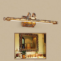 Novelty Lighting 7w 10w L54cm L68cm Europe Vintage Gold Resin LED Mirror Light Bathroom Cabinet Dressing