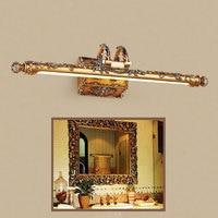 Novelty Lighting 7w 10w L54cm L68cm Europe Vintage Gold Resin LED Mirror Light Bathroom Cabinet Dressing