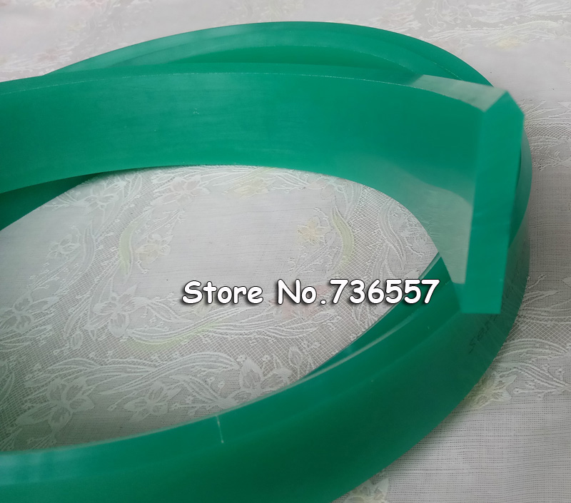 Pointed Squeegee Rubber Blade for Silk Screen Printing Squeegees, 75A Durometer (50mm*9mm, 1 meter) dek 193199 193202 193205 300 400 520mm clean rubber squeegee