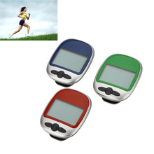 Multi-Function LCD Display Big Screen Step Calorie Counter Walking Motion Tracker Run Distance Sports Pedometer Green/Blue/Red