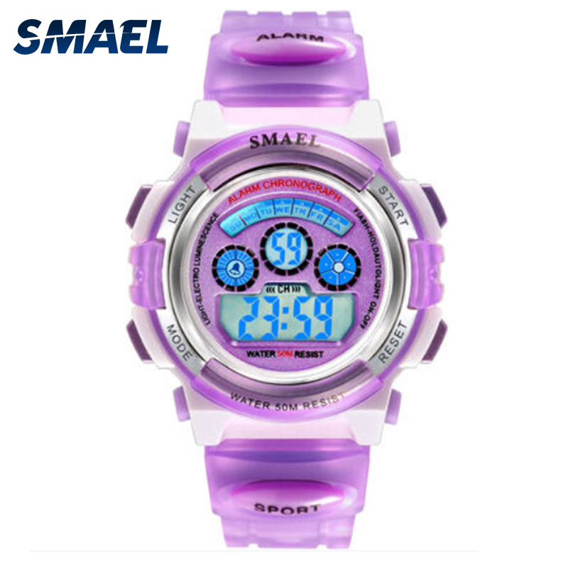 Jelly LED Digital Children Sports Watches Girls Dress Cartoon Watch Kids Cool Wristwatch Birthday Gifts with Gift Box SL0704b