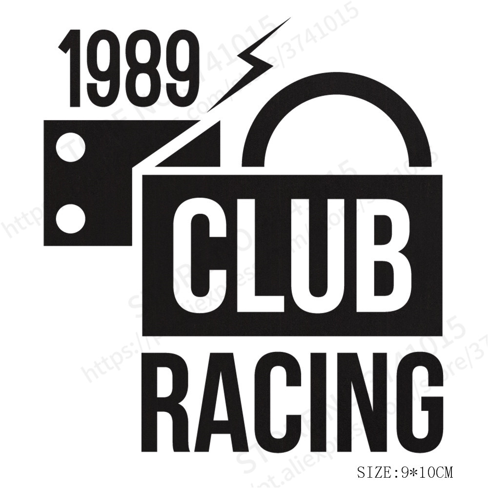 New Arrival CLUB RACING Decals Individuality Creative Car Stickers Car-Styling Motorcycles Decoration