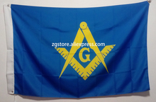 Masonic Flag 3X5FT 150X90CM Custome Banner brass metal holes(China)