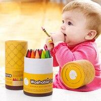 VIVCOR 16 24 Colors Crayons Suit Washable Color Crayon Children Graffiti Oil Pastel Art Supplies Papelaria