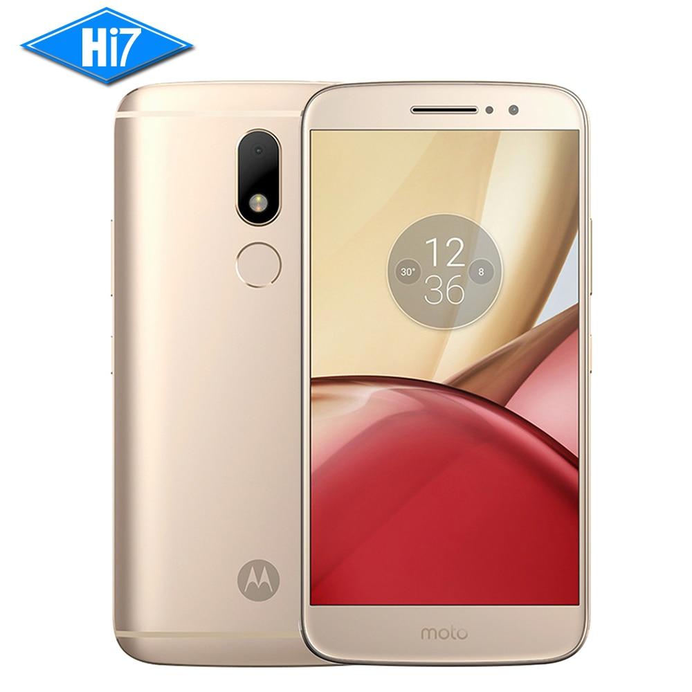 NEUER ursprünglicher Motorola Moto M XT1662 Handy 4G RAM 32G ROM Octa Kern Doppel SIM 4G LTE 5.5 '' 16.0MP Fingerprint 3050mAh