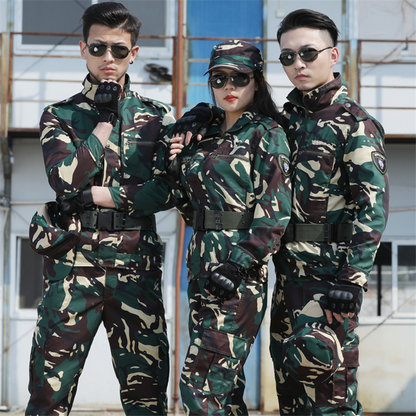 Outdoor Special Forces Man Military Unifroms Summer Hunter Soldier Tactical Cobat Army Suit Camouflage Airsoft 2PCS Outfits image