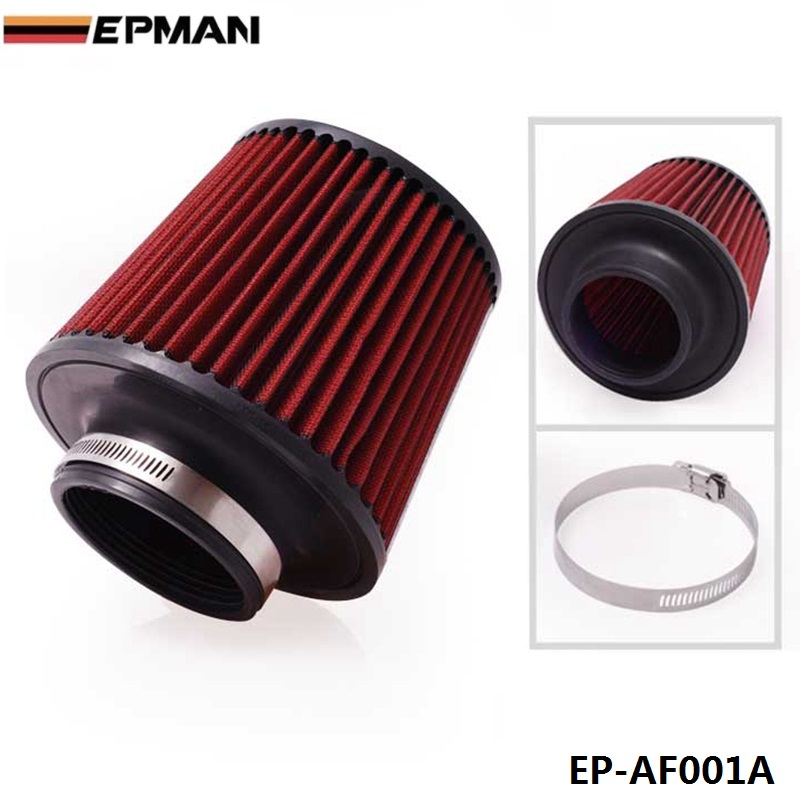 3'' INCH INLET HIGH FLOW SHORT RAM/COLD INTAKE ROUND CONE MESH AIR FILTER For BMW E36 M3/325i/ is/ iX M50 EP-AF001A universal car high flow cold air intake air inlet air intake system mushroom head air filter neck 75mm 70mm 65mm 60mm