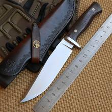 LW Python 2 D2 blade Mikata handle Leather sheath fixed blade hunting large knife camping survival outdoor EDC knives tools