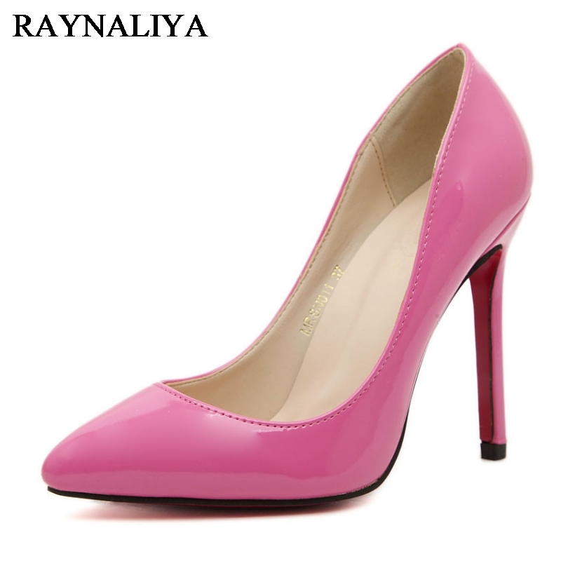 Top Quality Big Size 35-46 Women Pumps Blue Pink Color Pointed Toe High Heels Sexy Thin Heels Zapatos Mujer Women Shoes WZ-B0018 fletite top quality elegant embroidery 8 color women pumps pointed toe thin high heels 2018 new fashion luxury women shoes brand