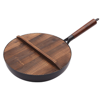 Cast iron non stick pan uncoated pan induction cooker universal frying pan household kitchenware 015