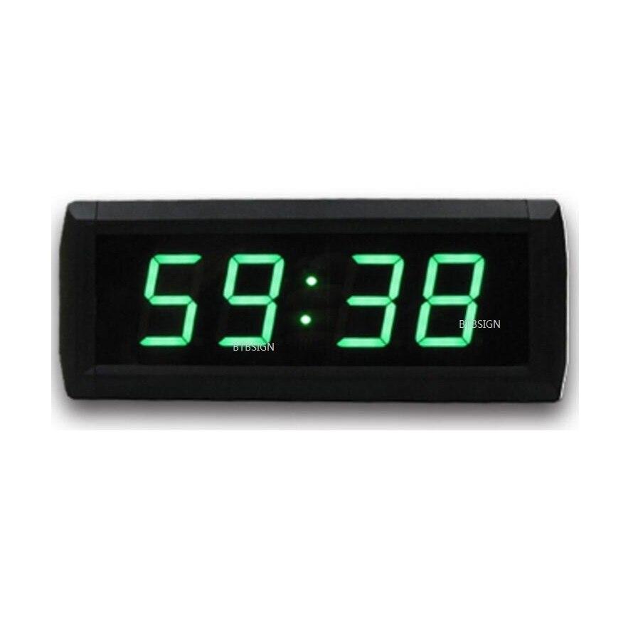 Couleur Verte 1.8 Pouces 4 Chiffres Horloge Murale Moderne Grand Led  Numérique Compte à Rebours Montre 12/24 Heure Du0027affichage Dans Horloges  Murales De ...