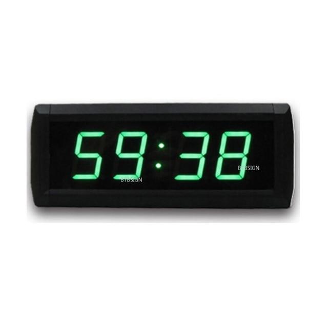 Vert Couleur 1.8 pouces 4 Chiffres Horloge Murale Moderne Grand Led ...