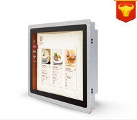 All in One Computer 12'' LED TouchScreen PC Touch high temperature 5 wire resistive IP65 standard with 4G RAM 64G SSD