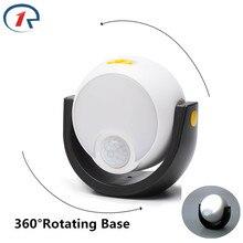 ZjRight 360 degree rotating Led Lamp PIR sensor cabinet Auto Motion Kitchen bedroom Wardrobe indoor Stair wall lights