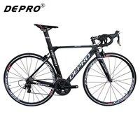 Depro ألياف الكربون الإطار الطريق دراجة 22 سرعة 700c لوكا دراجة خفيفة سبائك الألومنيوم المهنية الدراجات bicicleta الطريق الدراجة