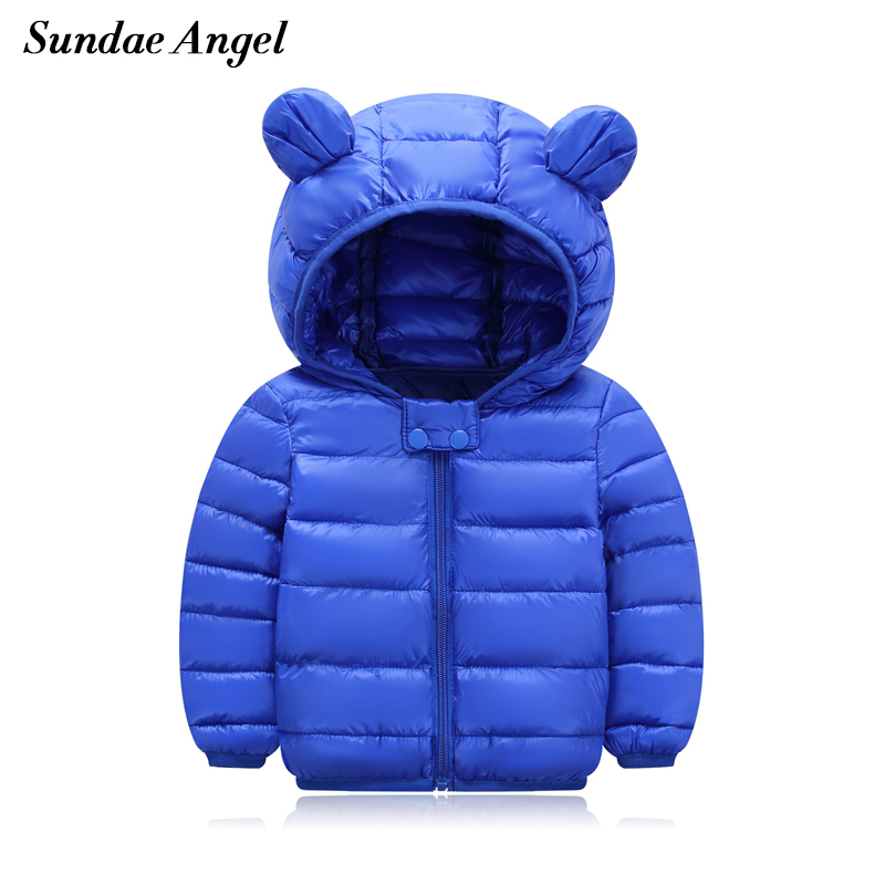 Детская зимняя куртка с капюшоном, с длинным рукавом, из полиэстера