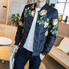 2017 Autumn New Jackets Men Luxury Print Slim Fit Long Sleeve Mens Casual Bomber Jacket Plus