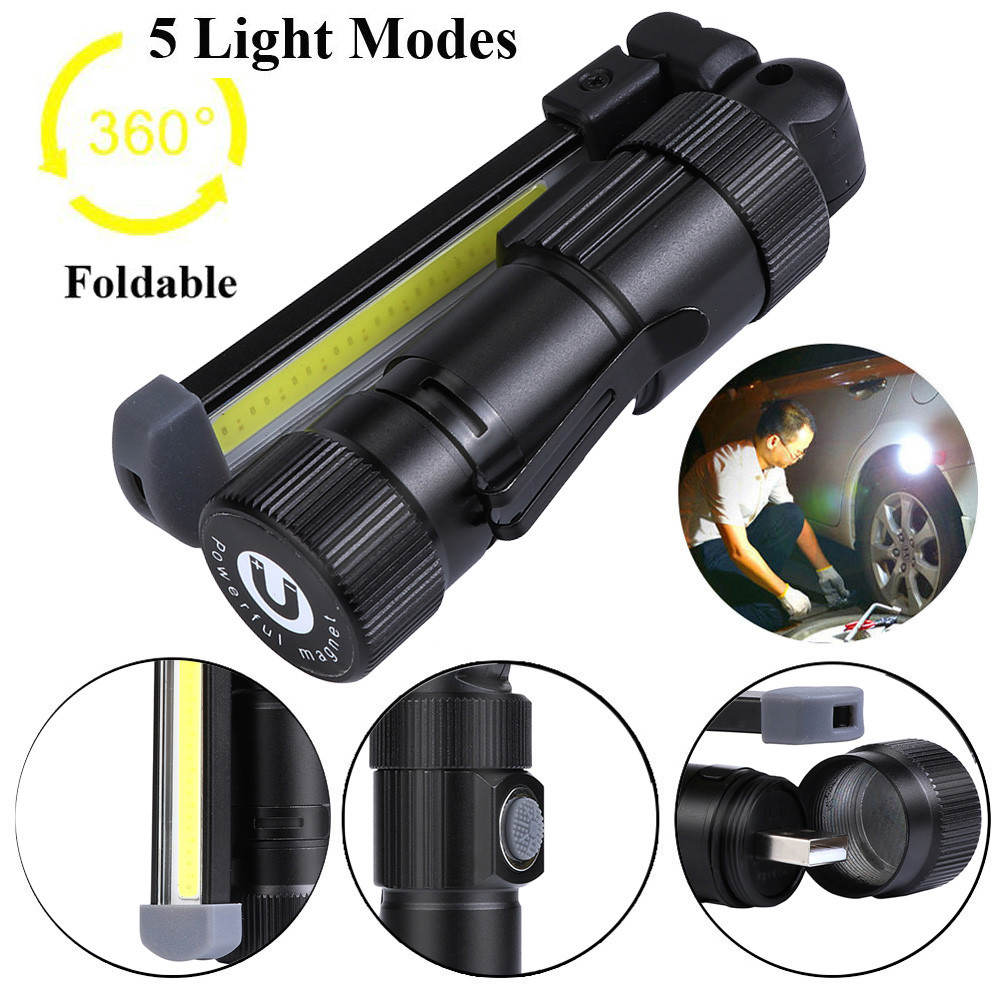 United 4000mah Rechargeable Led Flashlight With Battery Waterproof Usb Working Lamps Portable Led Camping Lamp Torch Lights Lanternas Bringing More Convenience To The People In Their Daily Life Lights & Lighting Led Flashlights