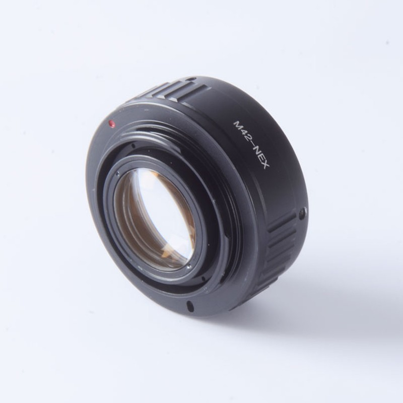 42mm M42 lens to E mount Focal Reducer Speed Booster Turbo adapter ring for nex A7 A7s A6000 A3000 3N 6 5R 5T 6 7 camera pixco focal reducer speed booster lens adapter ring suit for canon ef lens to suit for micro 4 3 m4 3 camera gx7 e m5 e pl6
