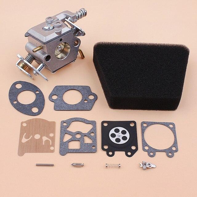 Kit de réparation de carburateur, filtre à Air et joint pour Mcculloch Mac 335 435 440 Partner 350 351, pièces de rechange pour tronçonneuse à gaz Walbro 33 29 Carb