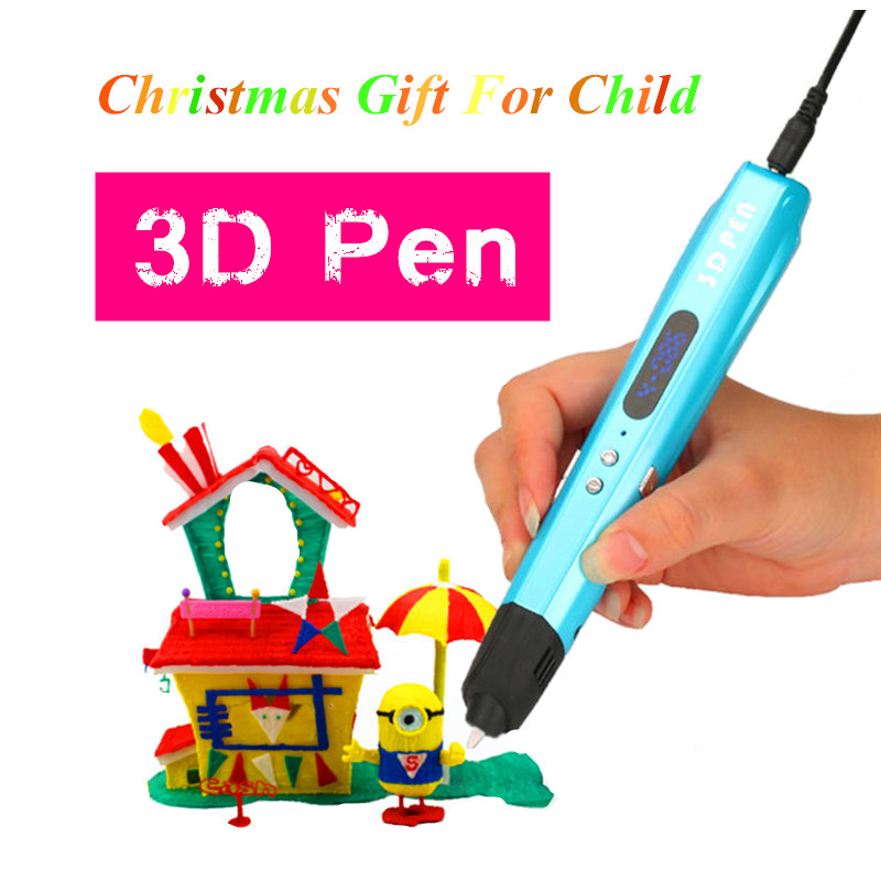 Sixth Generation 2 Color 3 D Drawing Pens With Free PLA Filament 3D Printing Pens For Kids Birthday Present Add 100 Meter PLA