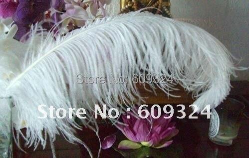 """Плюмаж из страусиного пера, чистый белый 22-2"""", свадебные украшения, свадебные украшения"""