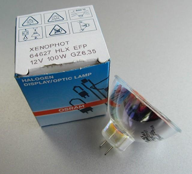 OSRAM 64627 HLX EFP 12 V 100 W GZ6.35 XENOPHOT óptica lâmpadas halógenas para microscópio