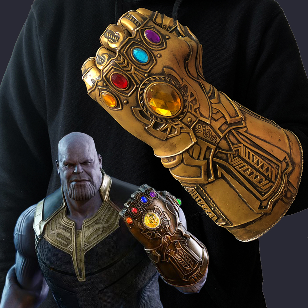 Infinity Gauntlet Gloves Cosplay Avengers Infinity War Thanos Gloves Mask Latex Handwear Deluxe Gloves Paty Carnival Props