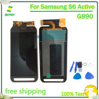 AMOLED No Dead Pixel G890 LCD Display Touch Screen Digitizer Assembly With Tools For Samsung Galaxy S6 Active G890 G890A SM G890