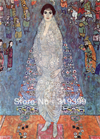 Gustav Klimt Oil Painting reproduction on Linen Canvas,Portrait of Elisabeth Baroness Bachofen Echt,Free DHL ship ,handmade,MQ