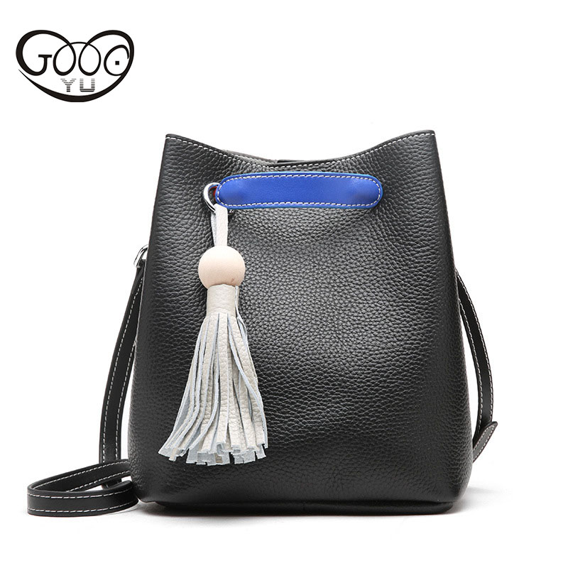 Europe and the United States style leather pure color female package fight color bucket bag leisure fashion cowhide women should ostin футболка с новогодним принтом