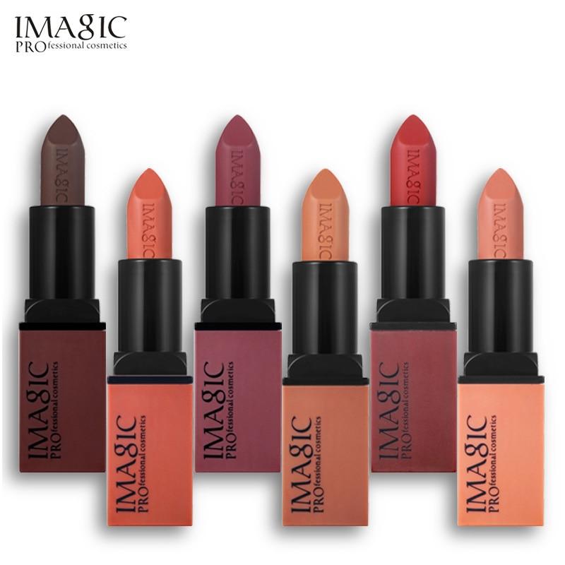 IMAGIC Creme Dnude Soft Blankety Born Brave Pink Ruby Woo Red Rebel Plum Sin Deep Lipstick Hot Sexy Colors Lip Paint 3pcs/set