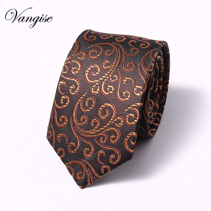 New Fashion Accessories Floral  Necktie High Quality 6cm Men's Ties For Suit Business Wedding Casual Black Red Gift For Men