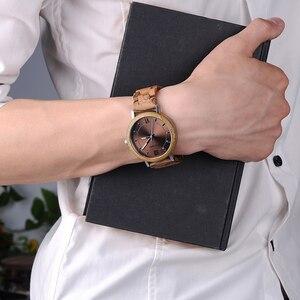 Image 5 - Bobo pássaro novo design relógios de madeira banda quartzo relógio de pulso para homem e mulher aceitar oem transporte da gota w * q07