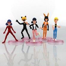 New arrive 5 Pcs set Miraculous Ladybug Action Figure Toys 9 11 cm Ladybug Cat Noir