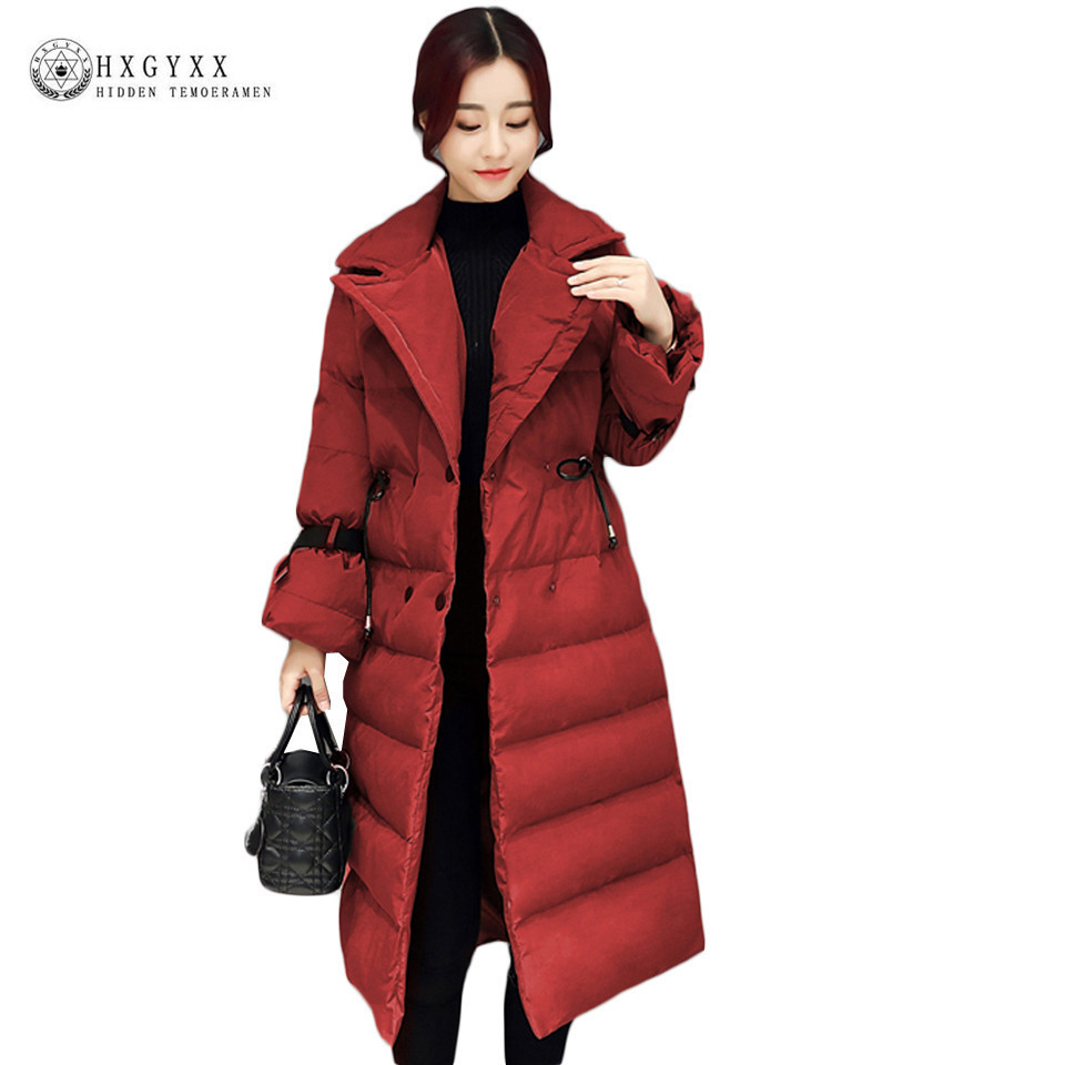 цена Turn-down Collar Slim Military Parka Plus Size Down Cotton Puffer Jacket Women Winter Quilted Coat 2017 Warm Snow Outwear Okb131 онлайн в 2017 году