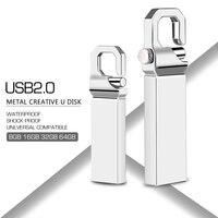 flash drive usb flash drive 16GB usb 2.0 metal pen drive 128GB 64GB 32GB 16GB 8GB 4GB usb flash silver pendrive memory stick free shipping (1)