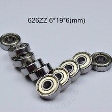 626 626zz 6*19*6(mm) rolamento ABEC-5 rolamentos de metal selado, 10 peças frete grátis 626 rolamentos de aço cromado rolamento de 626z 626zz