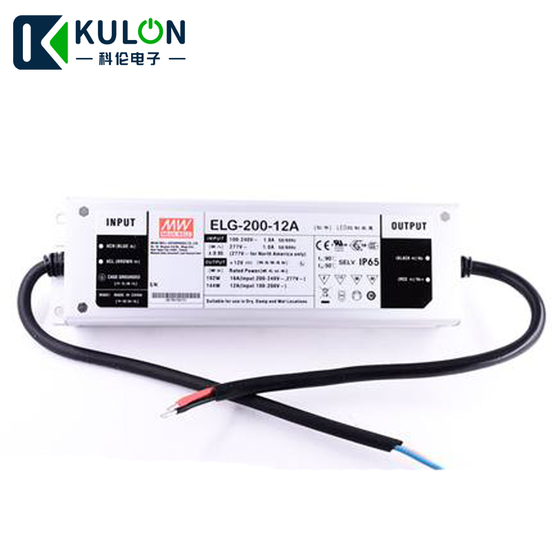 Original MEAN WELL ELG-200-12A 192W 12V 16A  IP65 waterproof Power Supply Meanwell LED driver ELG-200Original MEAN WELL ELG-200-12A 192W 12V 16A  IP65 waterproof Power Supply Meanwell LED driver ELG-200