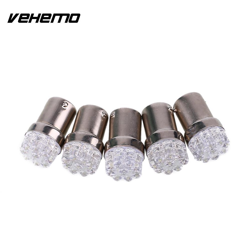 Vehemo 5Pcs R5W BA15S P21W 1156 9led Car Signal Light Bulb Lighting LED Lamp Auto Universal Durable