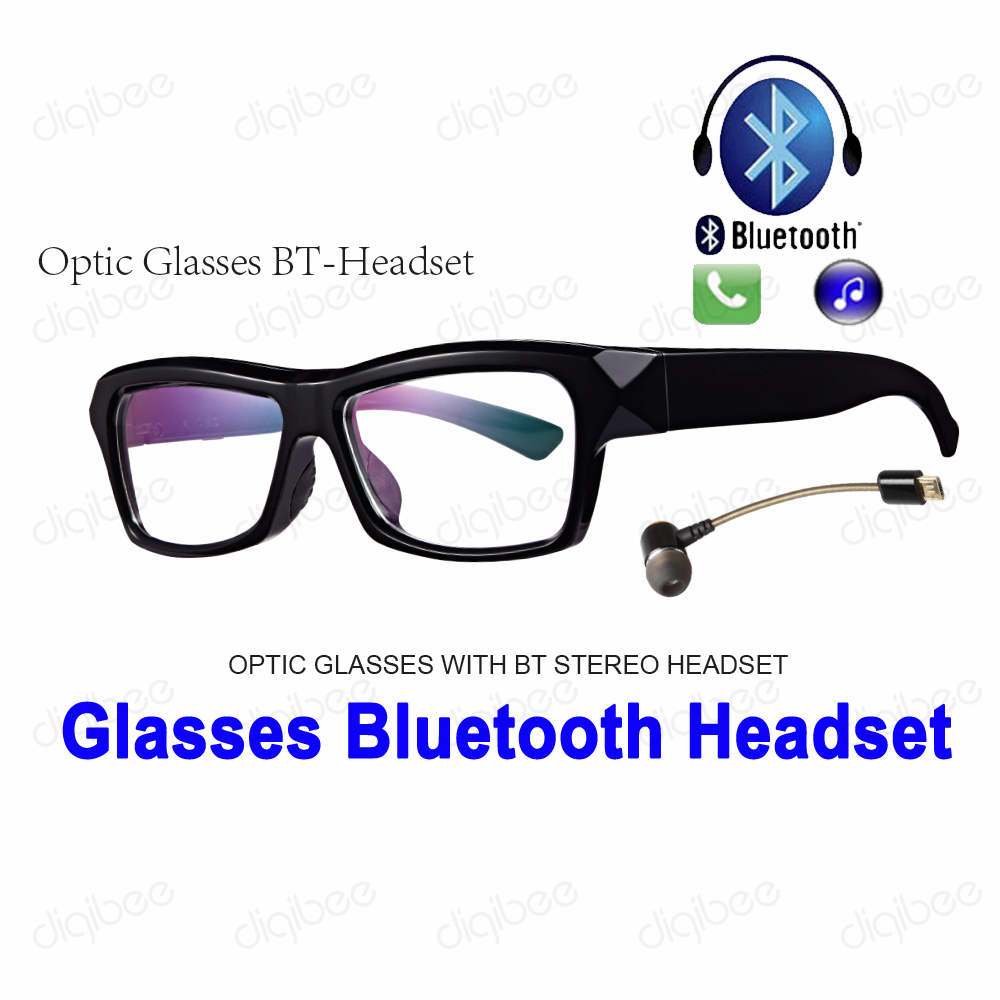TR90 Frame Eyeglasses Bluetooth Stereo Headset Headphone with Microphone for iPhone Huawei Xiaomi Samsung Smart Phones C1 BT