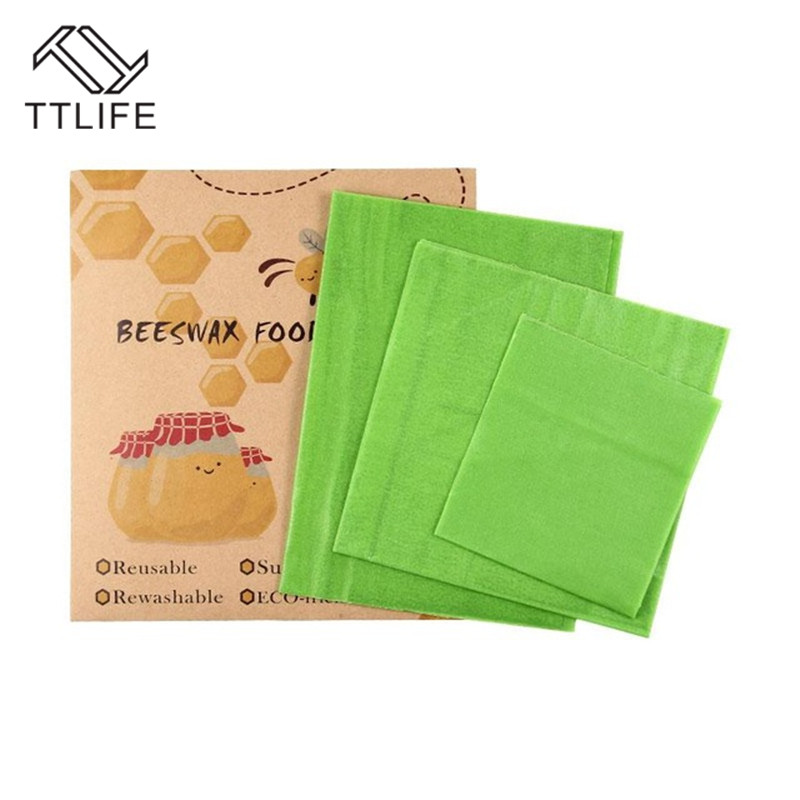 TTLIFE Reusable Silicone Wrap Seal Food Fresh Keeping Wrap Lid Cover Stretch Vacuum Food Wrap Beeswax Cloth 3 Sizes Kitchen Tool in Saran Wrap Plastic Bags from Home Garden