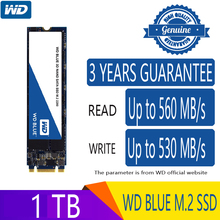 Western Digital Blue 500GB 1TB M.2 מצב מוצק כונן קשיח דיסק NGFF פנימי M2 2280 SATA 6 Gb/s 560 MB/s עבור מחשב נייד מחשב נייד