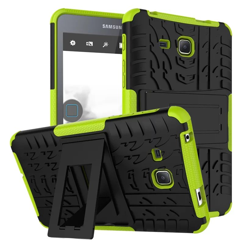 2 in 1 Heavy Duty Defender Rugged TPU & PC Armor Dazzle Shockproof KickStand Cover For Samsung Galaxy Tab A 7.0 T280 T285 Case