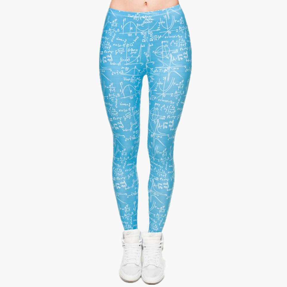 Hot Sale Fashion Mathematics 3D Full Printed Legging Punk Women's Stretchy Trousers Casual Pants Leggings