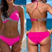 Женский сексуальный бюстгальтер пуш-ап с подкладкой, комплект бикини, купальник, купальный костюм, купальник, пляжный костюм