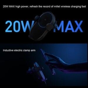 Image 4 - Xiaomi QI Kablosuz Şarj araca monte tutucu Standı iPhone XS Için Max Samsung S9 Xiaomi MIX 2S Için Huawei Mate 20 pro Mate 20 RS