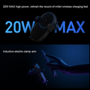 Image 4 - Xiaomi QI Wireless Charger Car Mount Holder Stand For iPhone XS Max Samsung S9 For Xiaomi MIX 2S Huawei Mate 20 Pro Mate 20 RS